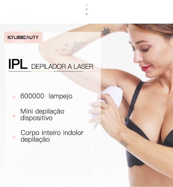 Depilador a Laser permanente removedor de pelos com tecnologia IPL (Luz Pulsada)