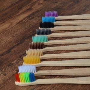 Escova de dente Sustentável de Bambu - 10 Peças