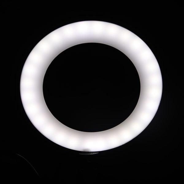 Ring Light Profissional Para Webinar Lives Maquiagem Reunião Online de 26cm com tripé e suporte para celular