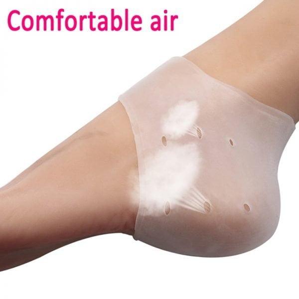 Protetor Silicone Calcanhar Rachado Tamanho único Magic Heels™ - 1 Par
