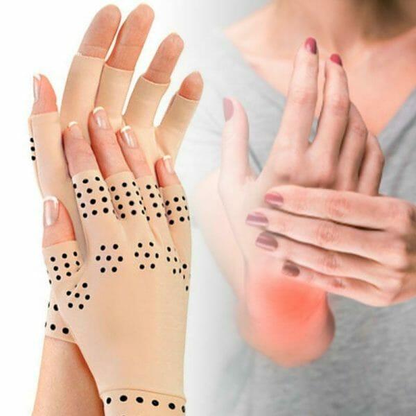 luvas para terapia magnética contra artrite nas mãos compre 1 leve 2 pares