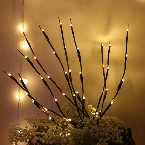 2 Conjuntos de Galhos de Luz LED para Decoração