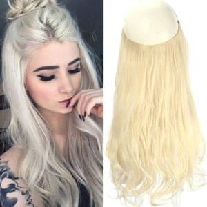 Aplique de Cabelo Mega Hair Wig Extension Loiro Platinado