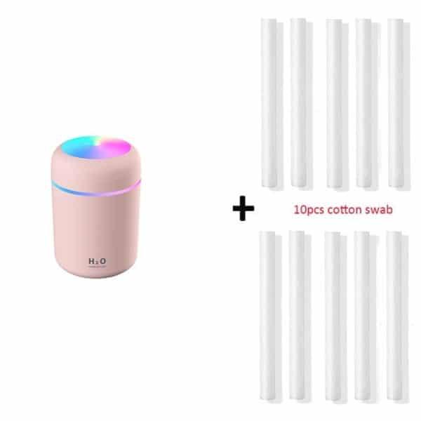 Difusor de Óleos Essenciais & Umidificador com 10 Filtros H2O Lumen