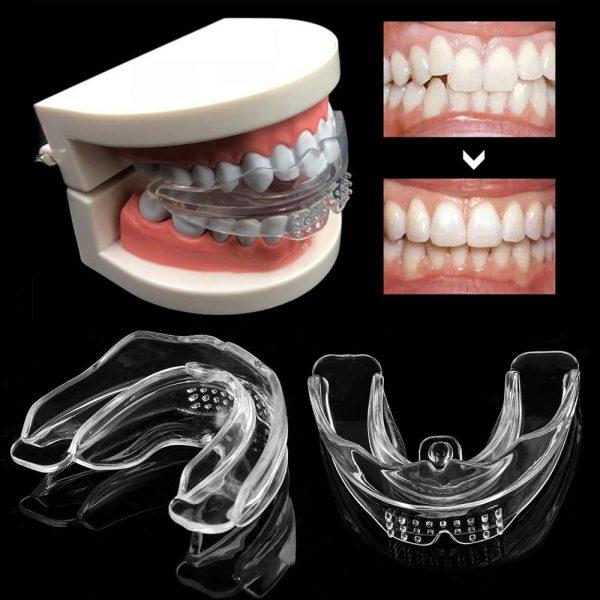 Placa Dental de Silicone para Tratamento de Bruxismo