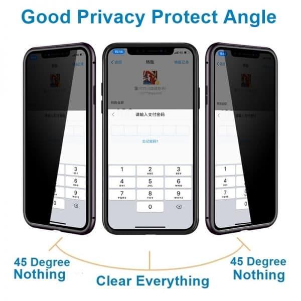 Case magnético para Smartphone Iphone Anti Espionagem