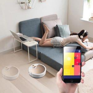 Robô Aspirador de Pó Inteligente Smart Robot - Acionamento via Celular