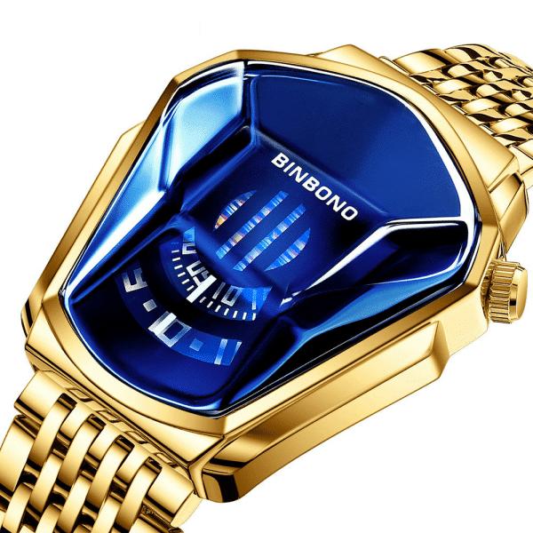 Relógio Geométrico Aço Inoxidável Masculino - Binbond