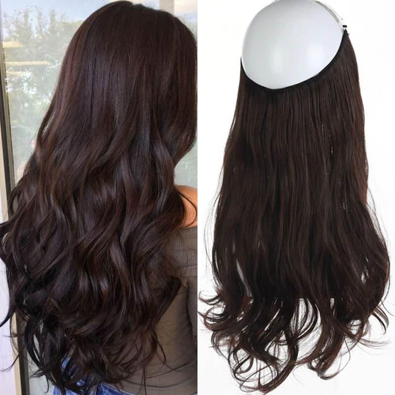 Aplique de Cabelo Mega Hair Wig Extension Castanho Escuro 50cm