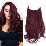 Aplique de Cabelo Mega Hair Wig Extension Vermelho Vinho 50cm