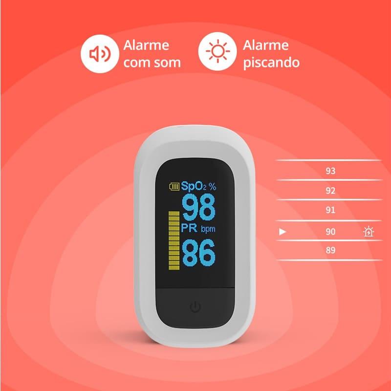 Oxímetro Digital de Dedo para Medir Pulso e Saturação do Sangue OxiMais+