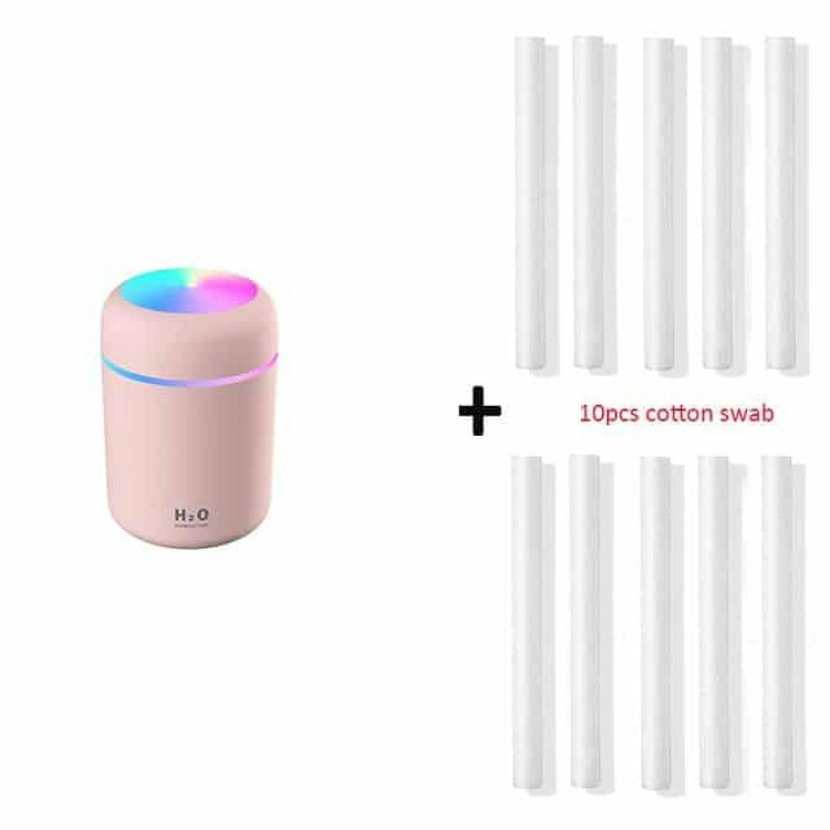 Difusor de Óleos Essenciais e Umidificador com 10 Filtros H2O Lumen