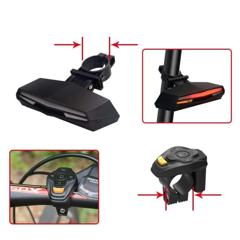 Lanterna Ciclista Confort Plus X A prova D'Água com Controle Remoto