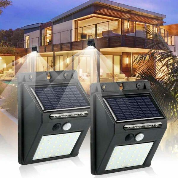 Luz de Segurança com Sensor de Movimento e Painel Solar - Sem Necessidade de Cabos e Fácil Instalação 1 Peça