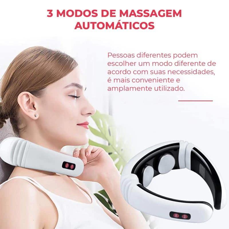 Massageador de Pescoço e Ombro Elétrico com Infravermelho