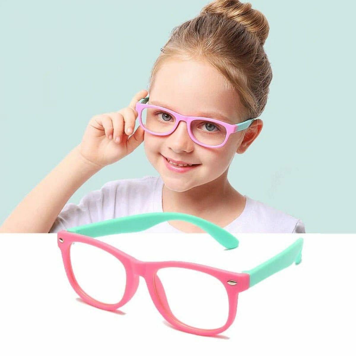 Óculos Infantil Original de Proteção Anti Luz Azul e UV 400