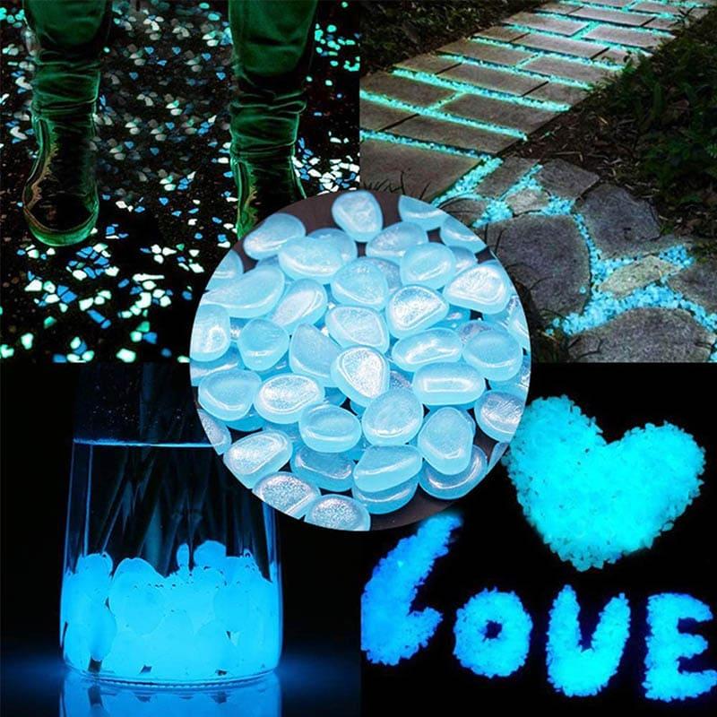 Pedras Luminosas para Casa Jardim e Aquário 100 Peças