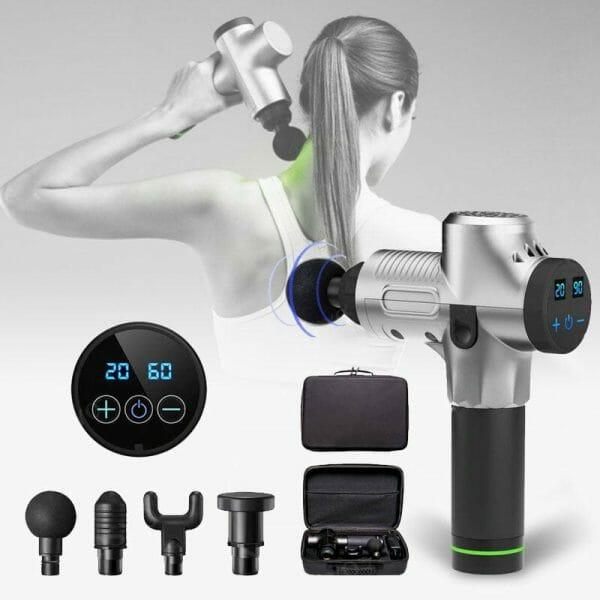 Pistola Massageadora Phoenix 2.0 Profissional para Liberação Muscular Miofacial e Relaxamento Prata