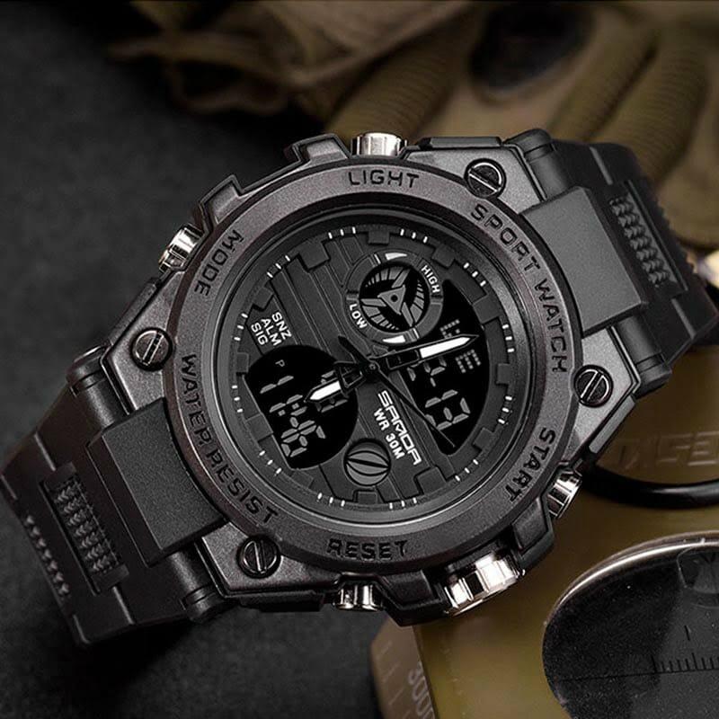 Relógio Masculino Militar Esporte Shock P739