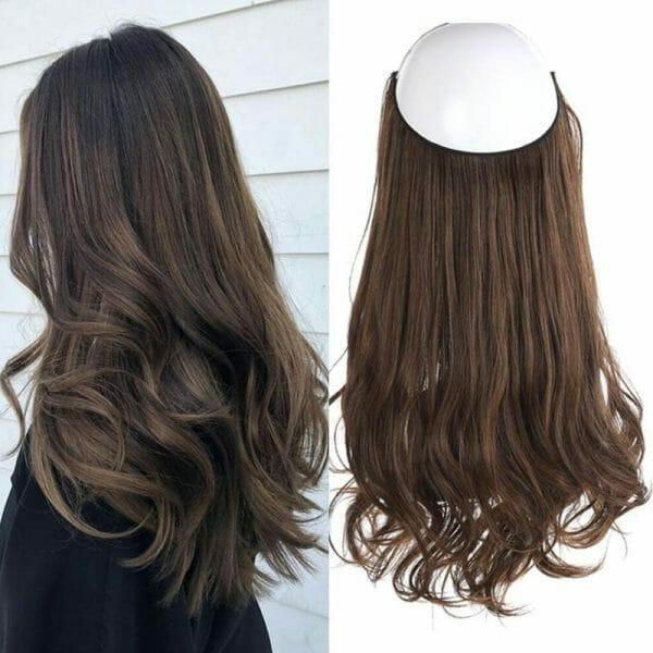 Aplique de Cabelo Mega Hair Wig Extension Castanho Médio 50cm