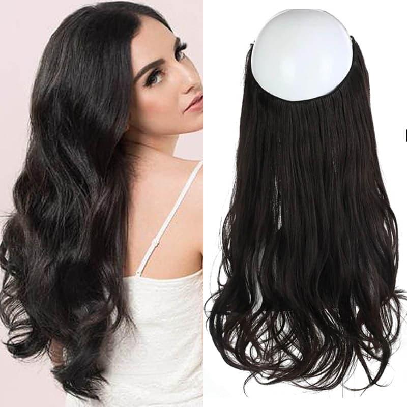 Aplique de Cabelo Mega Hair Wig Extension Preto 50cm