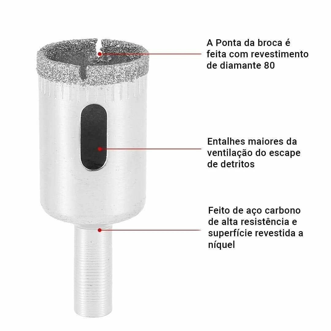 Bicos de Furo Serra de Copo Diamantada Conjunto com 10 Peças