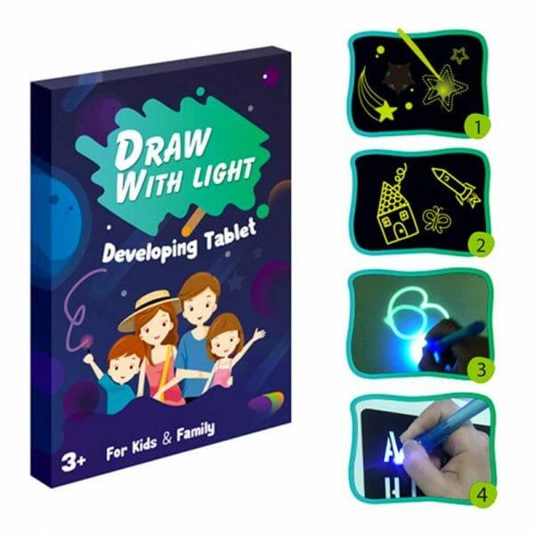 prancheta luminosa infantil drawlight
