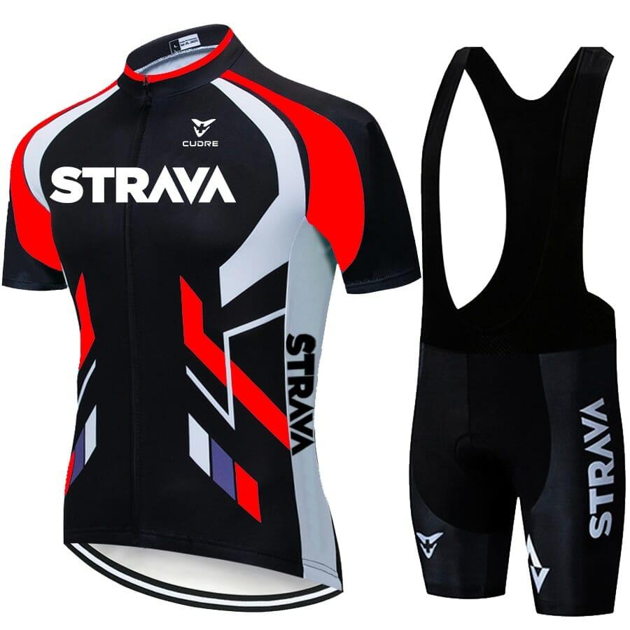 Camisa Short Ciclismo Conjunto Poliéster Original Vermelho