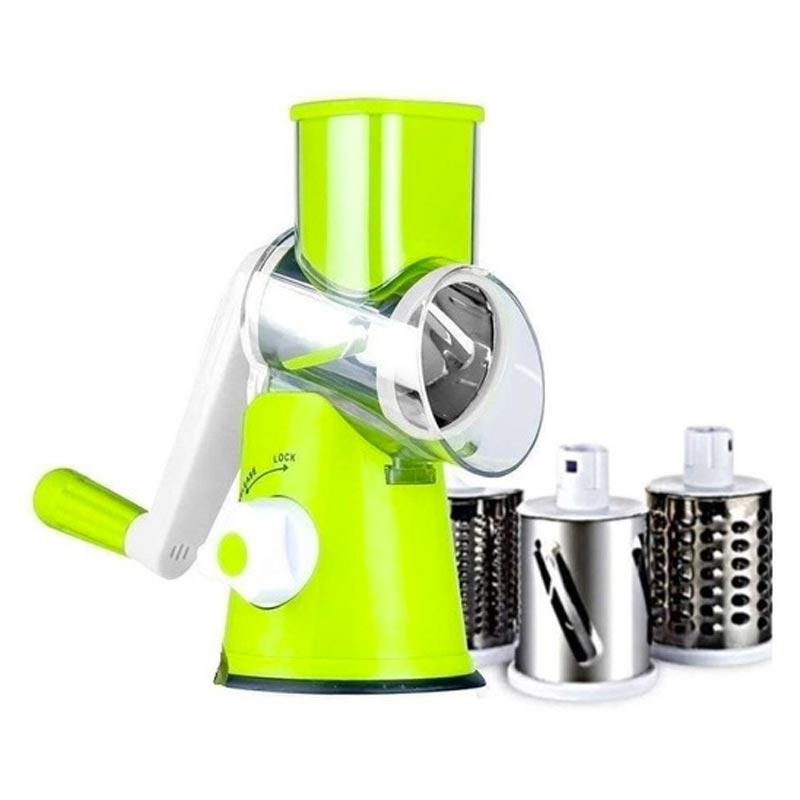 cortador ralador e fatiador de legumes e verduras manual 3 em 1