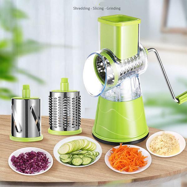 cortador ralador e fatiador de legumes verduras frutas manual 3 em 1 3