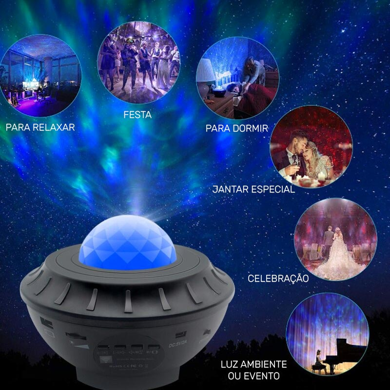 projetor céu estrelado