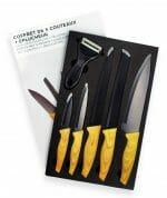 Kit Conjunto de 5 Facas Mais Descascador Premium BlackInox.jpeg