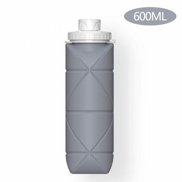 garrafa de silicone retrátil dobrável 600ml